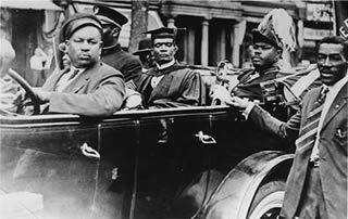 Marcus Garvey in U.N.I.A. Parade in New York City
